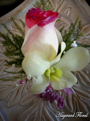 BTN-029 Orchid & Rose Boutonniere