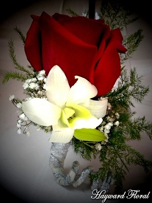 BTN-045 Orchid & Rose Boutonniere