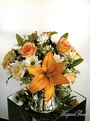 Centerpiece 1 Orange and White
