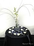 Centerpiece 3 White Orchid Cylinder