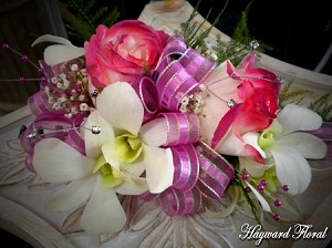 CRG-047 Orchids and Roses Corsage