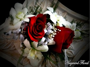 CRG-060 Orchids and Roses Corsage