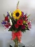 Large Mix Arrangement Roses & Sunflower
