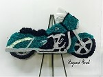 TEAL Motorcycle Floral Arrangement